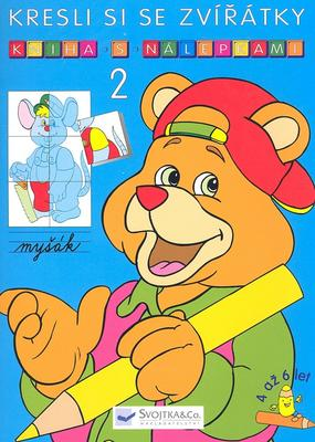 Obrázok Kresli si se zvířátky Kniha s nálepkami 2
