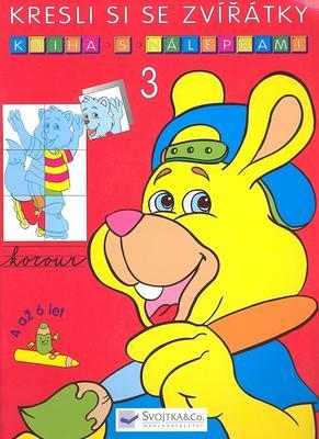 Obrázok Kresli si se zvířátky Kniha s nálepkami 3