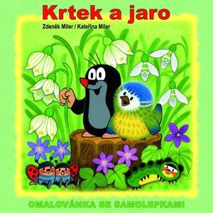 Obrázok Krtek a jaro - omalovánka
