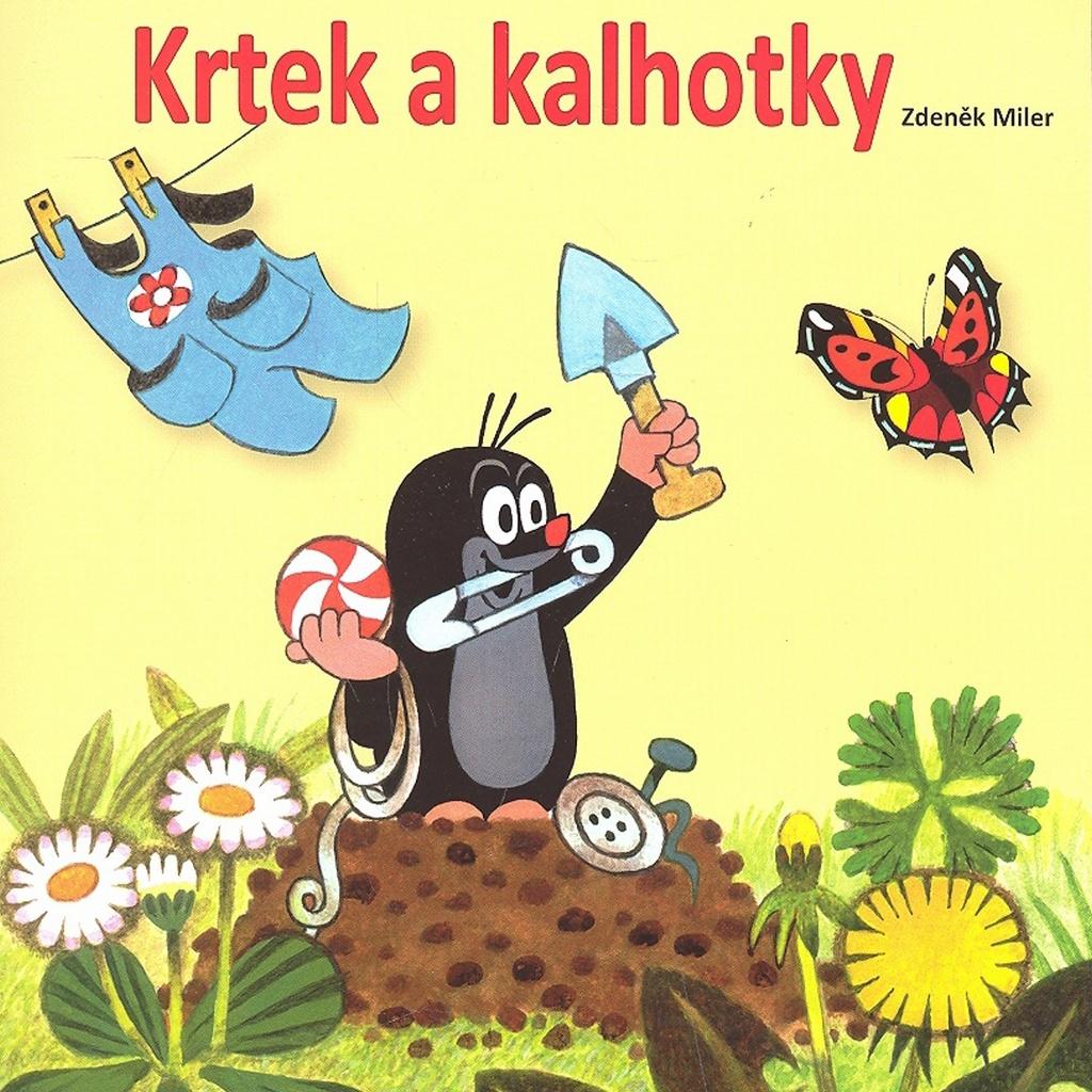 Krtek a kalhotky - omalovánka - Zdeněk Miler