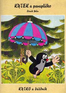 Obrázok Krtek a paraplíčko - omalovánka