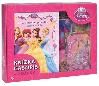 Kufřík Čtyři kouzelné pohádky o princeznách, časopis, 2 dárky