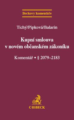 Obrázok Kupní smlouva v novém občanském zákoníku Komentář § 2079-2183