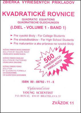 Kvadratické rovnice I.diel
