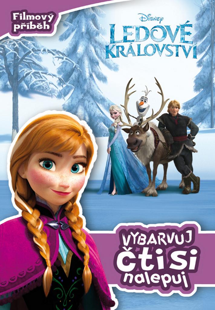 Ledové království Filmový příběh Vybarvuj, čti si, nalepuj! - Walt Disney