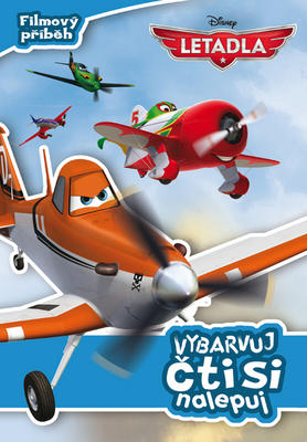Obrázok Letadla Filmový příběh Vybarvuj, čti si, nalepuj!