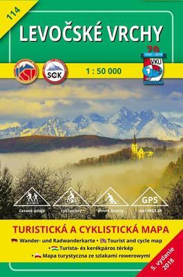 Obrázok Levočské vrchy 1 : 50 000