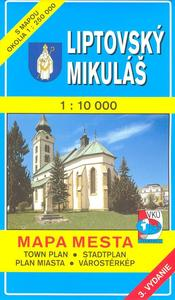 Obrázok Liptovský Mikuláš 1 : 10 000 Mapa mesta Town plan Stadtplan Plan miasta Várostér