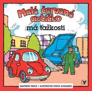 Obrázok Malé červené autíčko má ťažkosti
