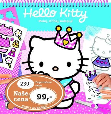Maluj, stříhej, nalepuj Hello Kitty
