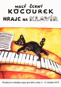 Obrázok Malý černý kocourek hraje na klavír