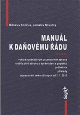 Obrázok Manuál k daňovému řádu