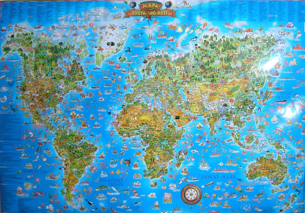 atlas sveta karta Mapa světa pro děti | KNIHCENTRUM.sk atlas sveta karta