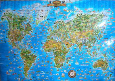 Obrázok Mapa světa pro děti