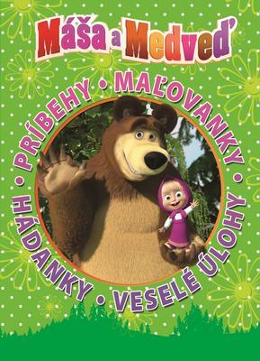 Obrázok Máša a medveď Príbehy. Maľovánky. Hádanky. Veselé úlohy