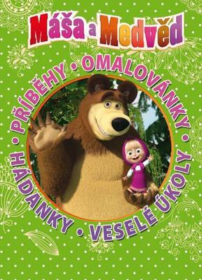 Obrázok Máša a Medvěd Příběhy, omalovánky, hádanky, veselé úkoly