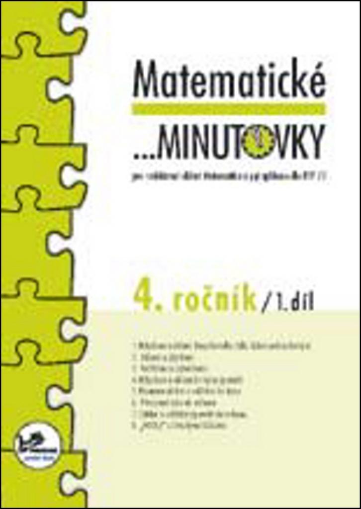 Matematické minutovky 4. ročník / 1. díl - PeadDr. Hana Mikulenková