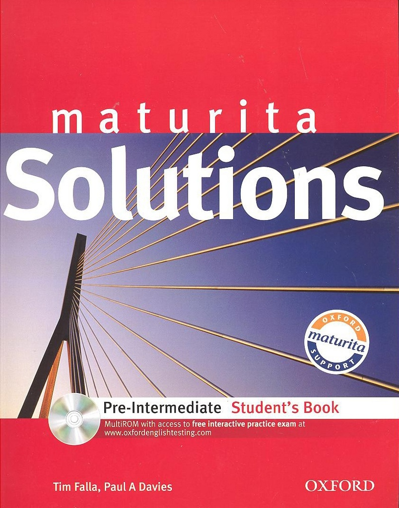 Maturita Solutions pre-intermediate student´t book + CD CZedition - Tim Falla, Paul Davies