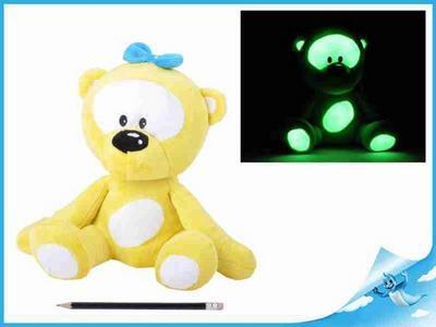 Obrázok Medvídek plyšový 30cm svítící ve tmě žlutý 0m+ v sáčku