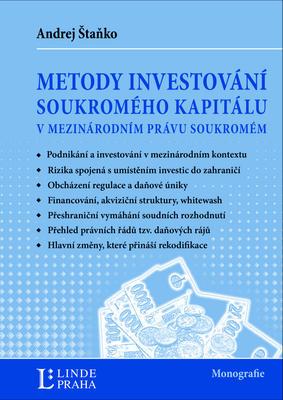 Obrázok Metody investování kapitálu v mezinárodním právu soukromém