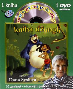 Obrázok Moje první pohádky-Kniha džunglí (omalovánky a DVD)