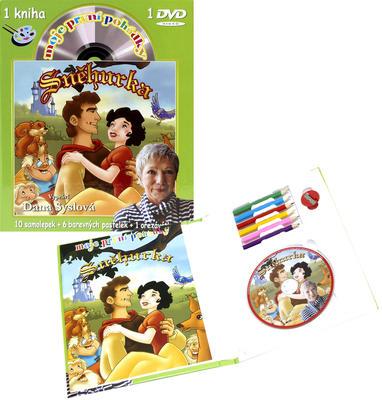 Obrázok Moje první pohádky-Sněhurka (omalovánky a DVD)
