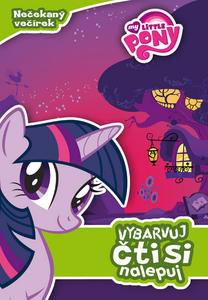 Obrázok My Little Pony Nečekaný večírek Vybarvuj, čti si, nalepuj!