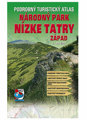 Podrobný turistický atlas  Národný park Nízke Tatry Západ