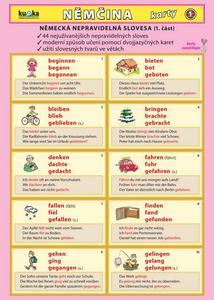 Obrázok Němčina karty 1 - nepravidelná slovesa