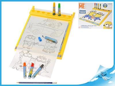 Obrázok Mimoň kreslící tabulka s fixami Minions v krabičce