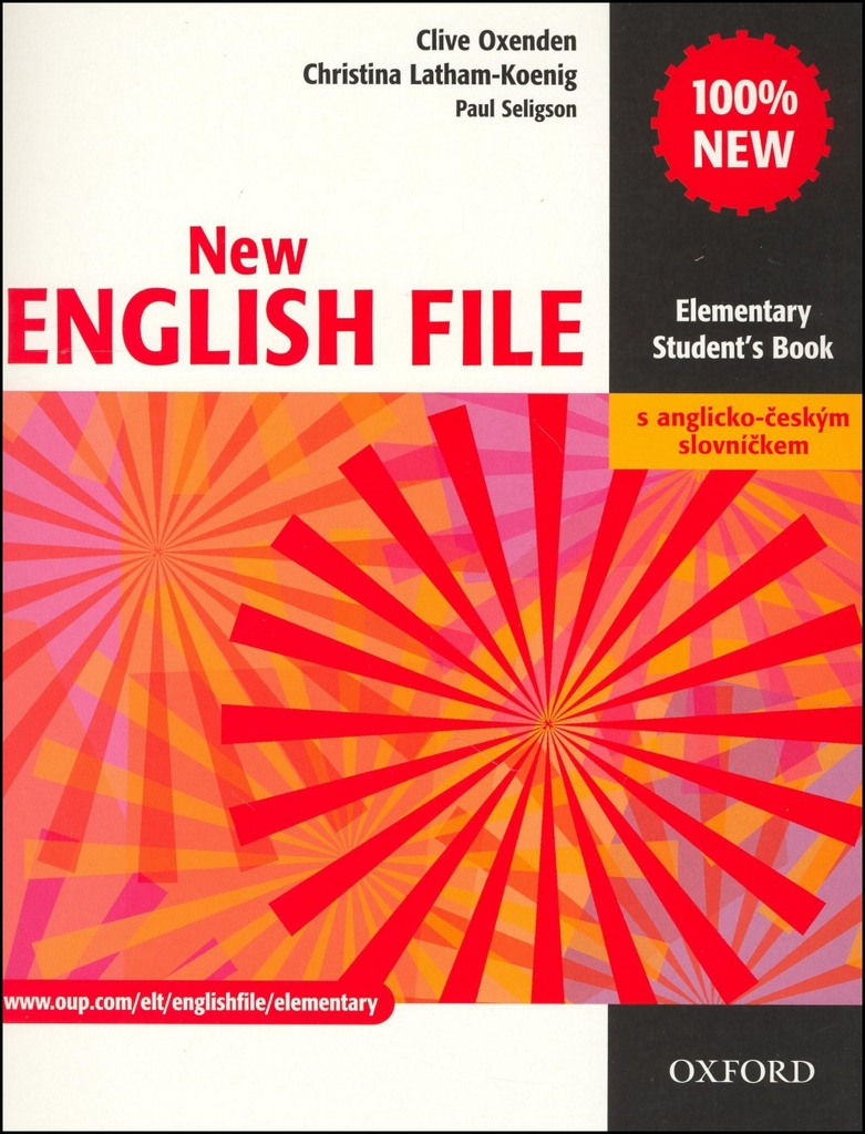 New English file elementary Studenťs Book s anglicko-českým slovníčkem - Paul Seligson, Christi