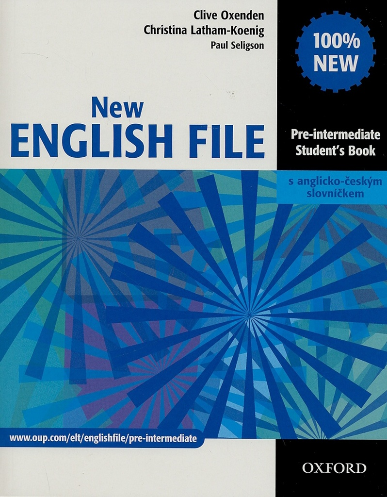 New English file Pre-intermediate Studenťs Book s anglicko-českým slovníčkem - Paul Seligson, C