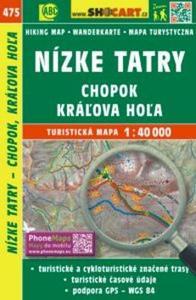 Obrázok Nízke Tatry, Chopok, Kráľova Hoľa 1:40 000