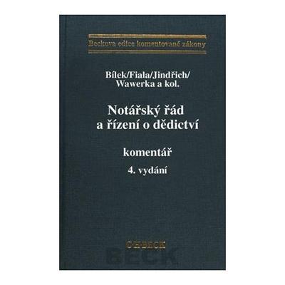 Obrázok Notářský řád a řízení o dědictví Komentář 4. vydání