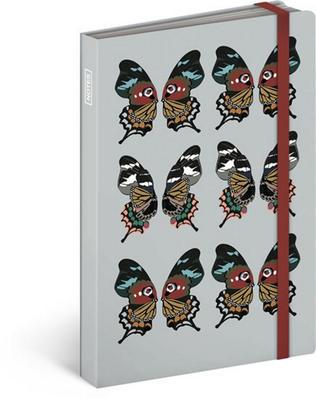 Obrázok Notes s gumičkou Motýl