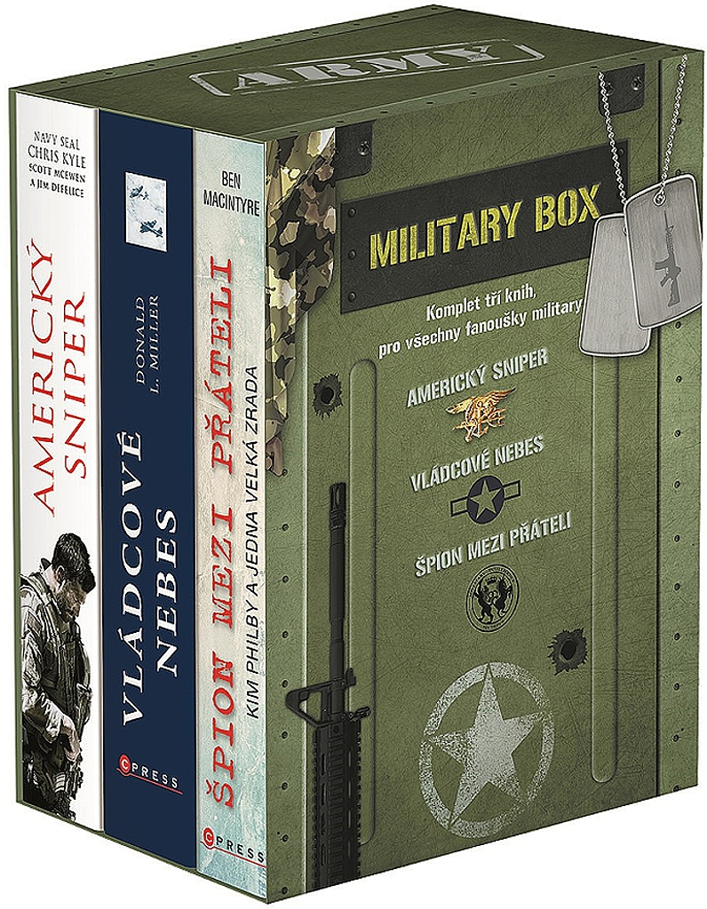 Military 1-3 BOX (Americký spiner, Vládcové nebes, Špion) - Scott McEwen, Ben Macintyre, Donald L. Miller, Chris Kyle, Jim DeFelice