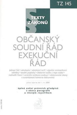 Obrázok Občanský soudní řád Exekušní řád, právní stav 1. 11. 2009