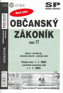 Obrázok Občanský zákoník k 1.7.2002
