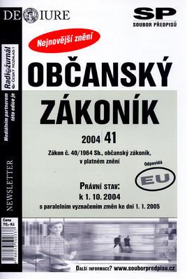 Obrázok Občanský zákoník právní stav k 1.10.2004