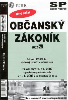 Obrázok Občanský zákoník Právní stav k 1.1.2003