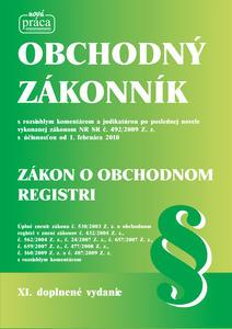 Obrázok Obchodný zákonník Zákon o obchodnom registri