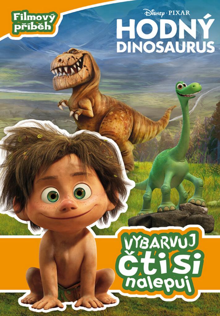 Hodný dinosaurus Vybarvuj, čti si, nalepuj