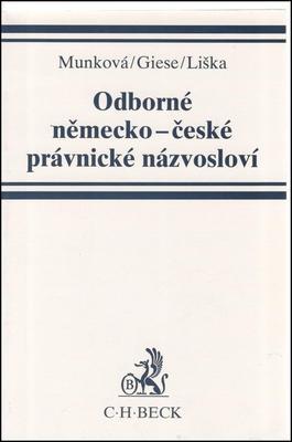 Obrázok Odborné něměcko-české právnické názvosloví