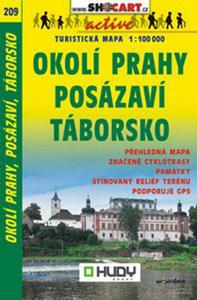 Obrázok Okolí Prahy, Posázaví, Táborsko 1:100 000