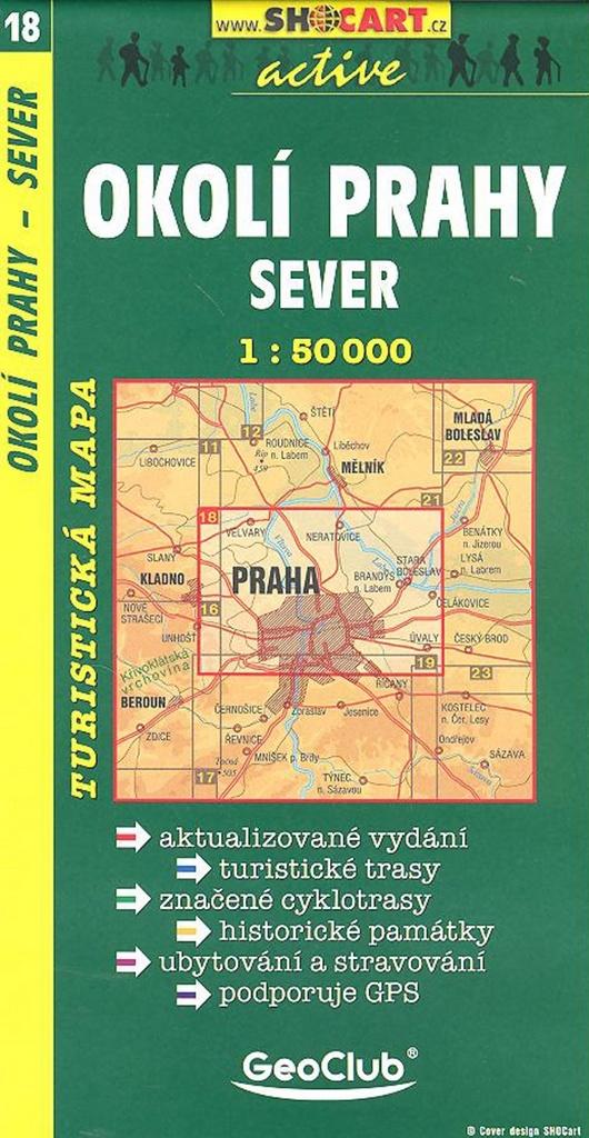 Okolí Prahy - sever 1:50 000