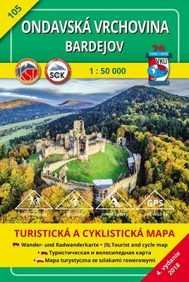 Obrázok Ondavská vrchovina - Bardejov 1 : 50 000