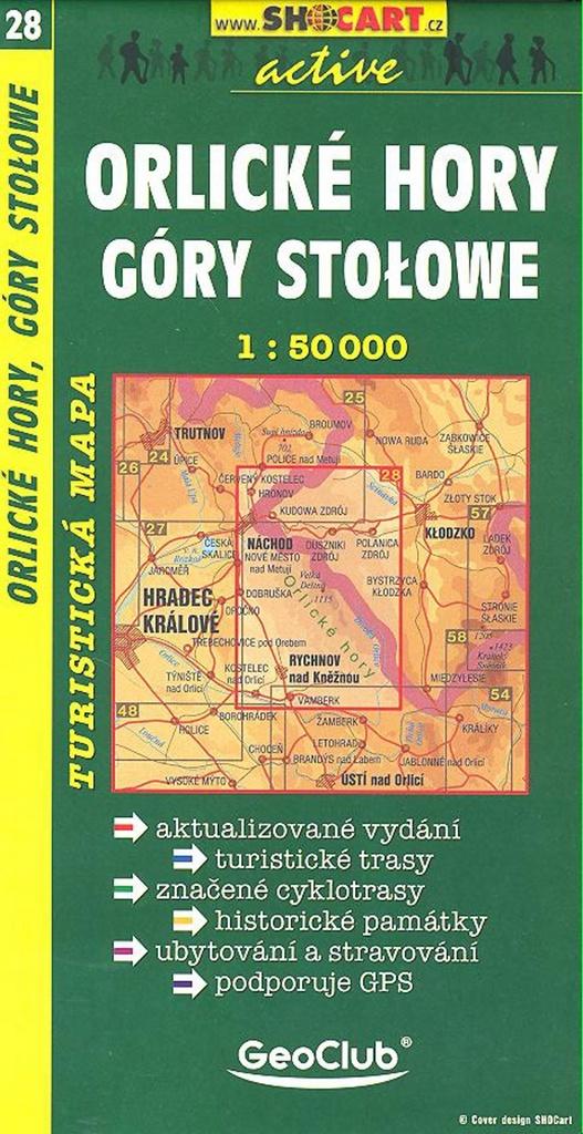 Orlické hory Góry Stołowe 1:50 000