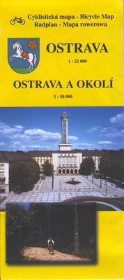 Obrázok Ostrava a okolí - cyklistická mapa