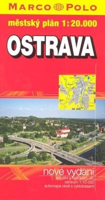 Obrázok Ostrava - plán tvrdá obálka PS 1:20 000