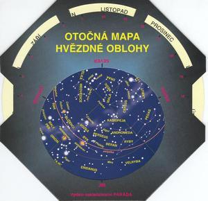 Obrázok Otočná mapa hvězdné oblohy